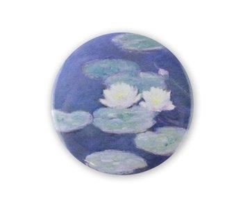 Pocket Mirror , Ø 80 mm, Monet, Water Lilies evening
