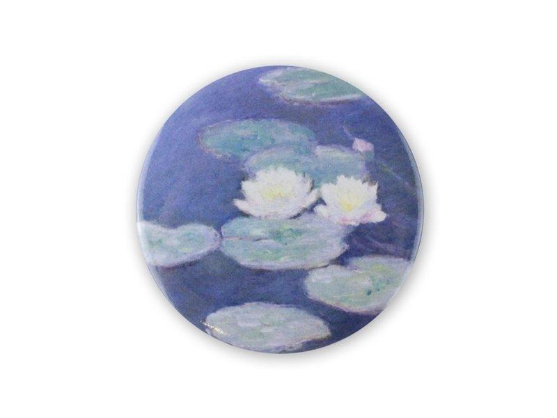 Taschenspiegel , Ø 80 mm, Monet, Seerosenabend