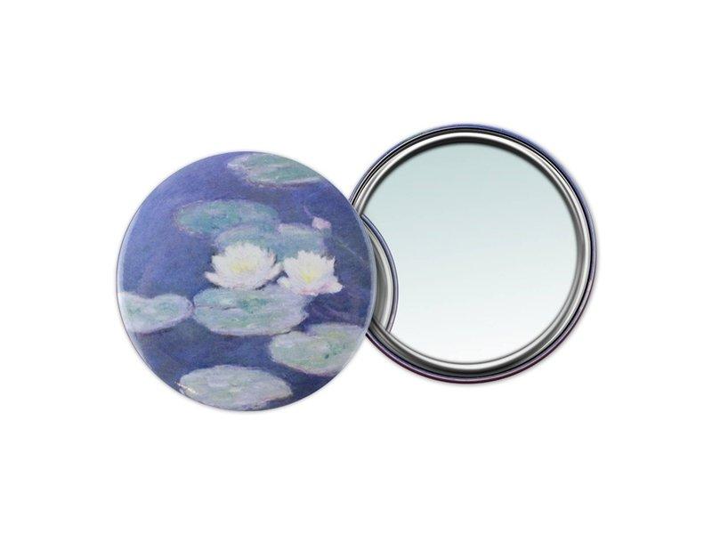 Miroir de poche W, Ø 80 mm, Monet, Soirée Nénuphars