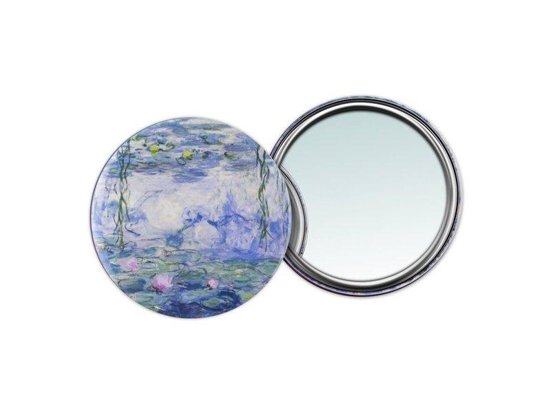 Miroir de poche W, Ø 80 mm, Monet, Nénuphars