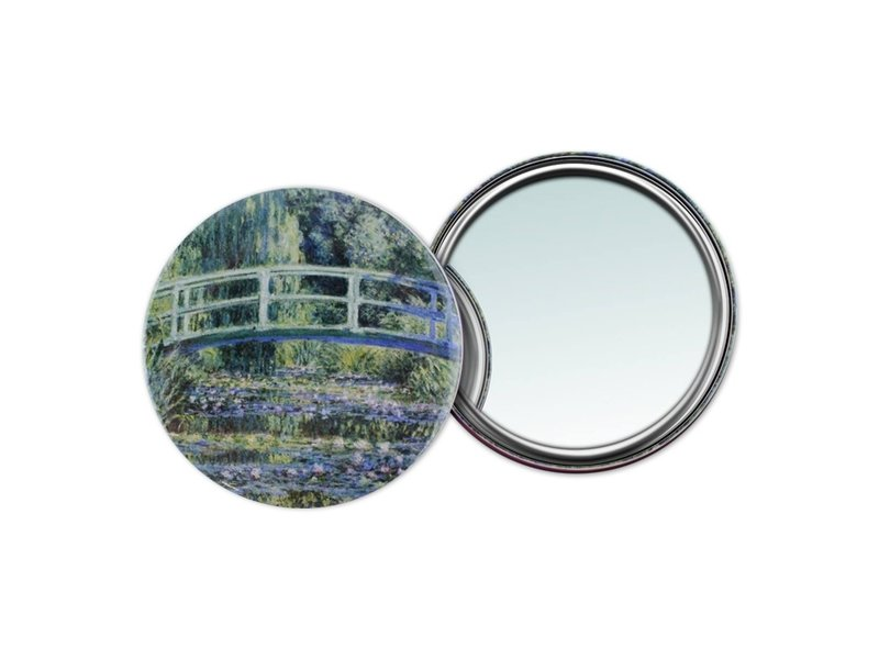 Taschenspiegel, Ø 80 mm, Monet, Brücke