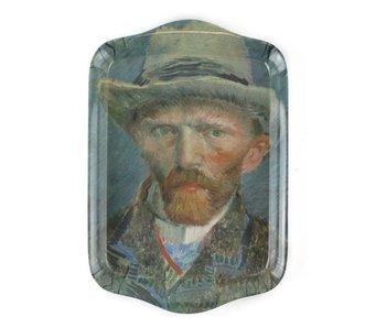 Bandeja de servicio mini, 21 x 14 cm, Van Gogh, Autorretrato