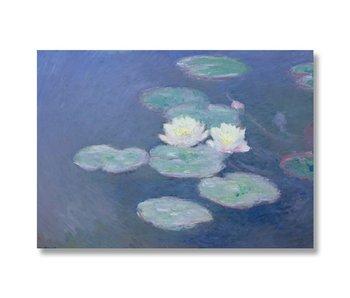Plakat 50x70, Seerosen im Abendlicht, Monet