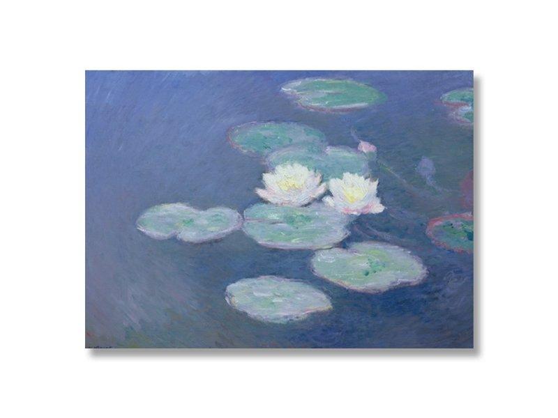 Cartel 50x70, Lirios de agua a la luz del atardecer, Monet