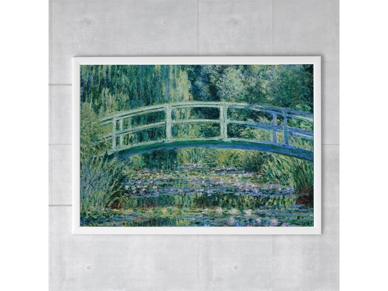 Poster, 50 x 70, Monet, Japanse brug