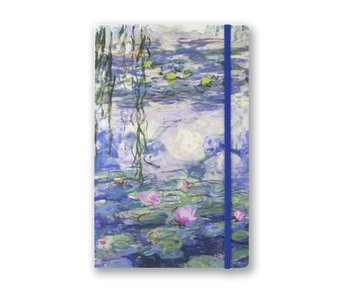 Softcover-Notizbuch, A5, Seerosen, Monet