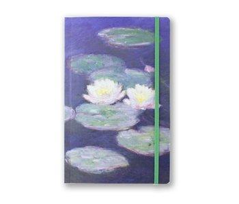 Softcover notitieboekje, A5, Waterlelies bij avondlicht, Monet