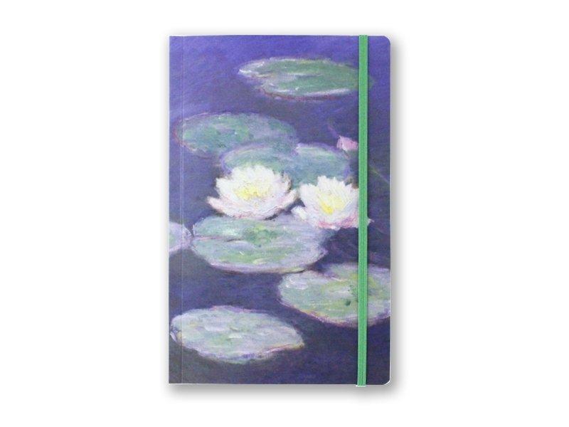 Softcover-Notizbuch, A5, Seerosen im Abendlicht, Monet