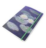 Cuaderno de tapa blanda, A5, nenúfares en la luz del atardecer, Monet