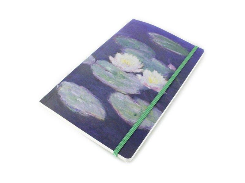 Carnet couverture souple, A5, Nympheas,effet  soir, Monet