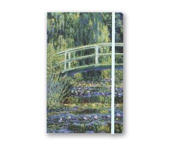 Softcover-Notizbuch, A5, japanische Brücke, Monet