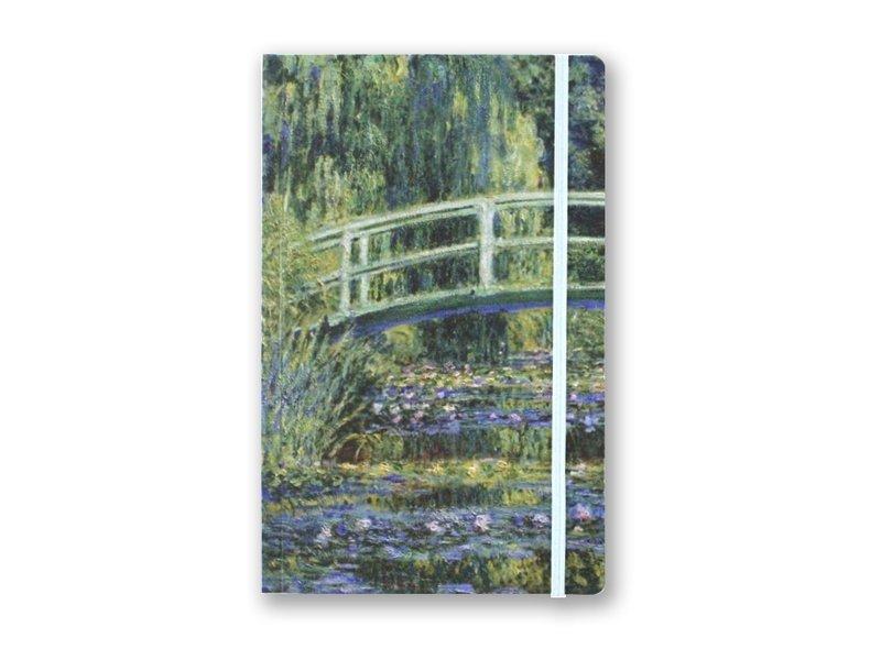 Cuaderno de tapa blanda, A5, puente japonés, Monet