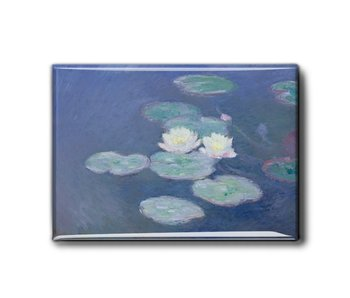Koelkastmagneet XL, Waterlelies in avondlicht, Monet