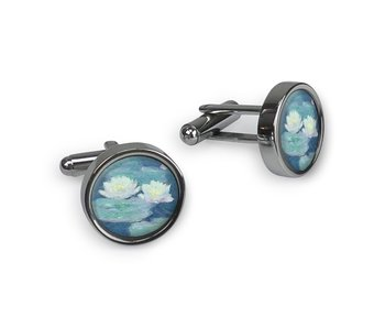 Cufflinks, Monet, Water Lilies evening