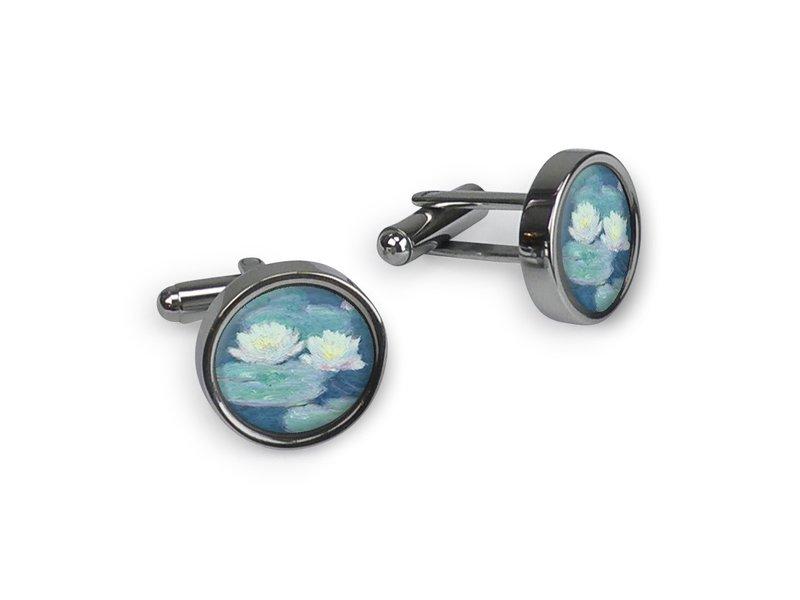 Cufflinks, Monet, Water Lilies evening