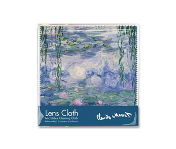Lens cloth, 15 x 15 cm, Waterlilies, Monet