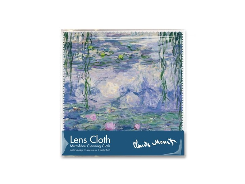 Lens cloth, 15 x 15 cm, Waterlilies, Monet