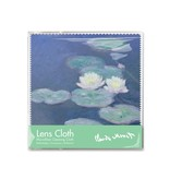 Lens cloth, 15 x 15 cm, Waterlilies in evening light, Monet