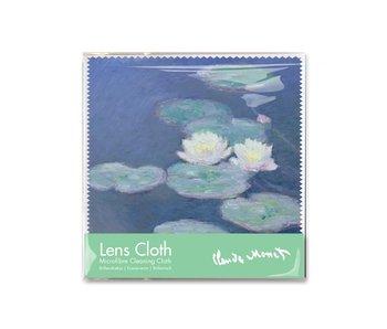 Brillendoekje, 15 x 15 cm, Waterlelies in avondlicht, Monet