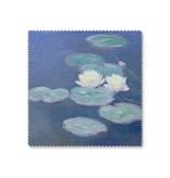 Paño limpiador de microfibre, 15 x 15 cm, nenúfares a la luz del atardecer, Monet
