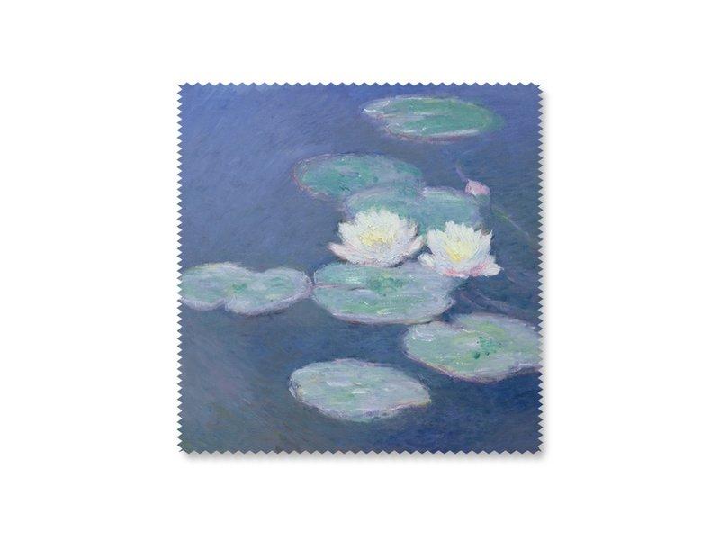 Brillenputztuch , 15 x 15 cm, Seerosen im Abendlicht, Monet