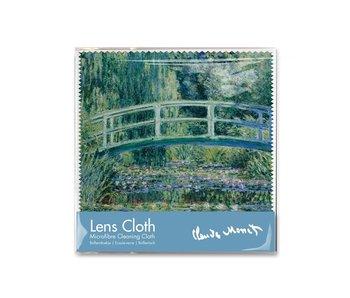 Linsentuch, 15 x 15 cm, japanische Brücke, Monet