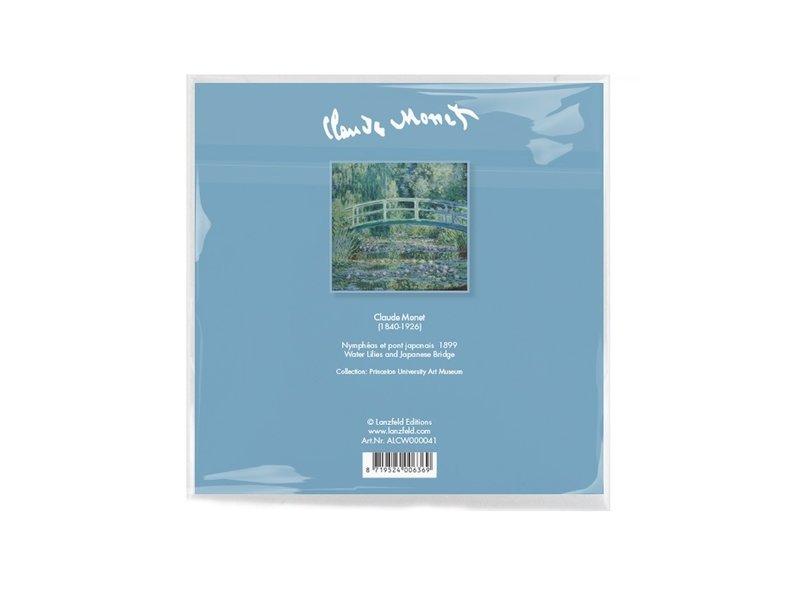 Brillenputztuch , 15 x 15 cm, japanische Brücke, Monet