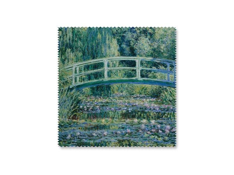 Chiffon à lunettes, 15 x 15 cm, Pont japonais, Monet