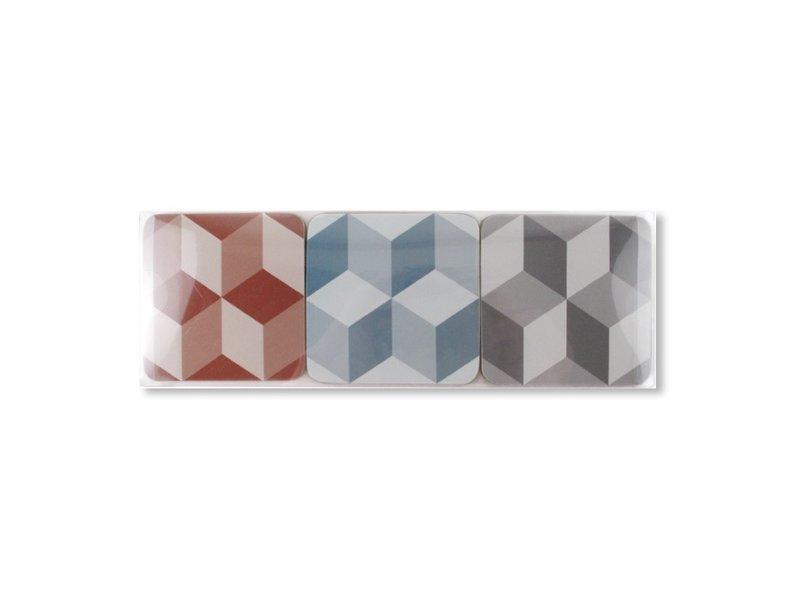 Coasters W, Optical Tile pattern
