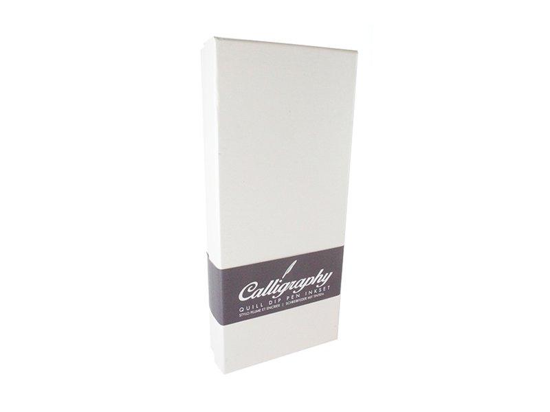 Ink pen feather quill pen set, black pen, white box
