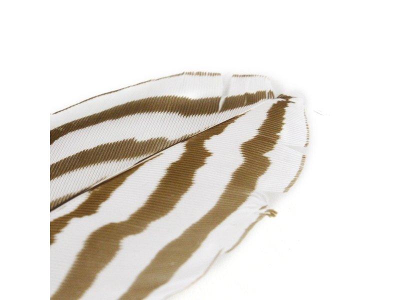 Stylo à bille faisan argenté, marron / blanc