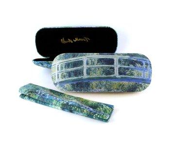 Funda de gafas con tela para lentes, puente japonés, Monet