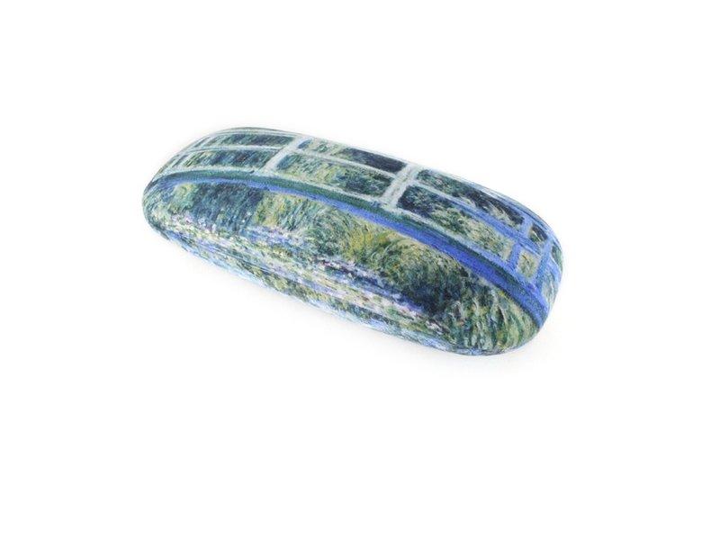 Brillenetui mit Linsentuch, japanische Brücke, Monet
