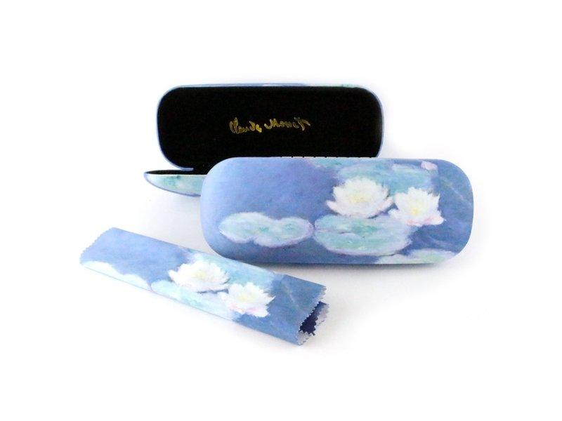 Étui à lunettes avec tissu pour lentilles, Nympheas, Monet