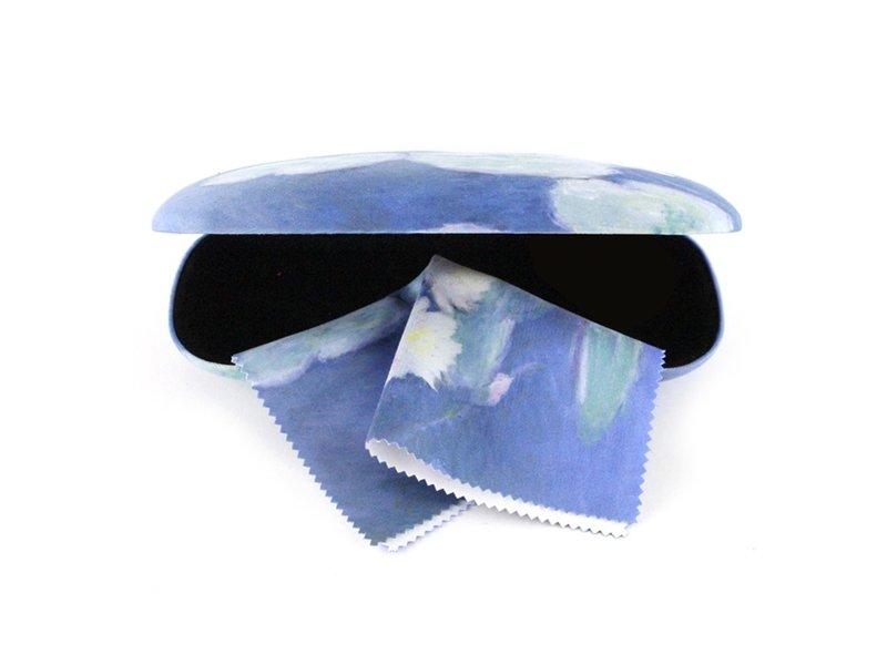 Funda de gafas con tela para lentes, nenúfares, Monet