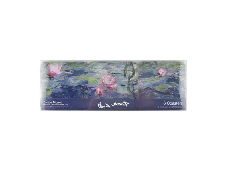 Coasters , Monet, Water Lilies