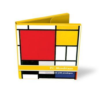 Card folder, set of 10 cards, Mondrian