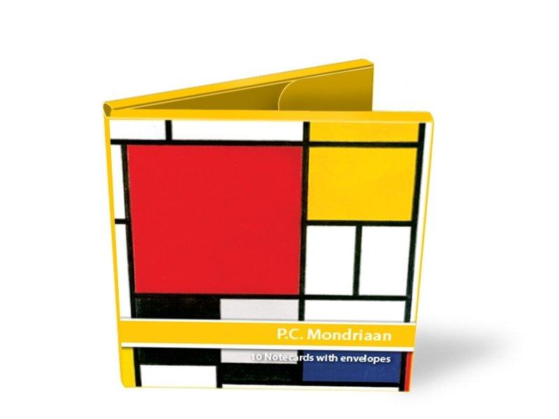 Kaartenmapje ,vierkant , Mondriaan