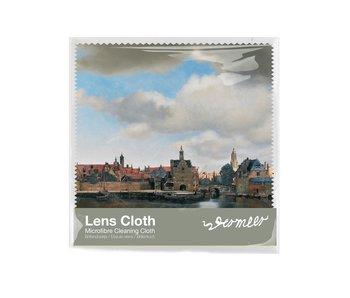 Brillenputztuch , 15 x 15 cm, Ansicht von Delft, Vermeer
