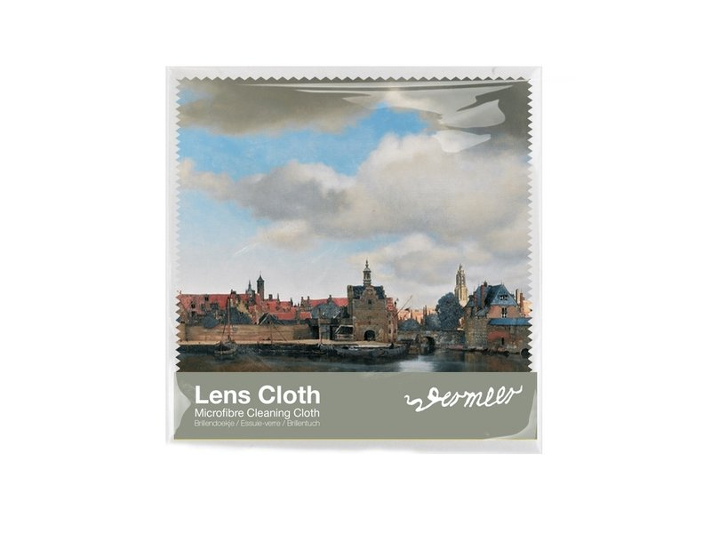 Paño de gafas, 15 x 15 cm, Vista de Delft, Vermeer