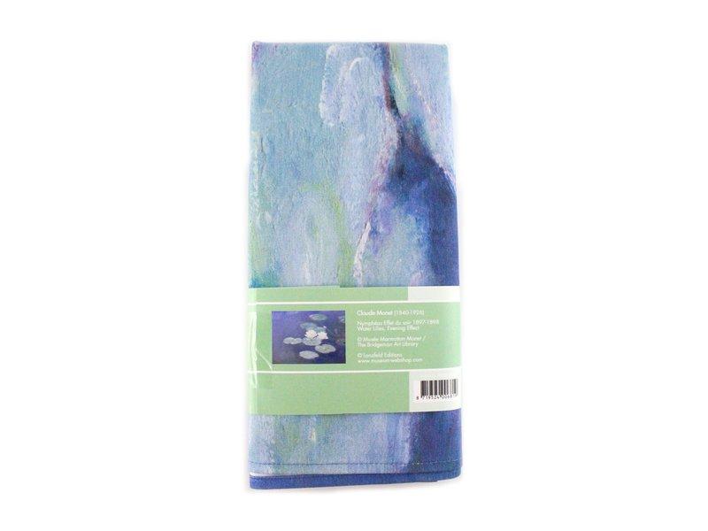 Theedoek , Waterlelies bij avondlicht, Monet