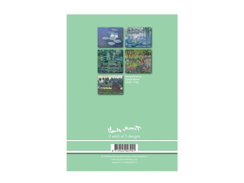 Coffret de carte postal, Claude Monet, 2x5 cartes doubles