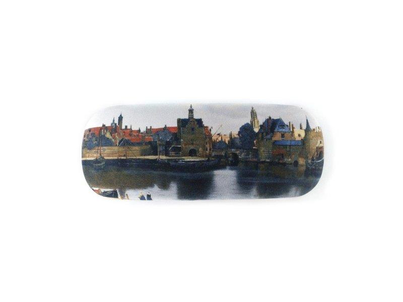 Étui à lunettes, vue de Delft, Vermeer