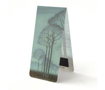 Marque-page magnétique, rangée d'arbres, Mankes