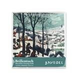 Chiffon à lunettes, 15 x 15 cm, Chasseurs dans la neige, Bruegel