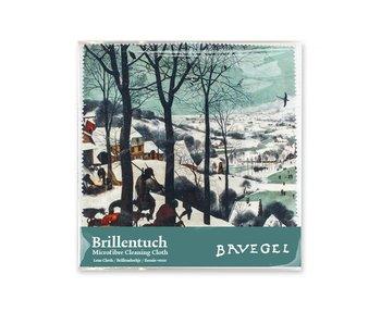 Brillenputztuch , 15 x 15 cm, Jäger im Schnee, Bruegel