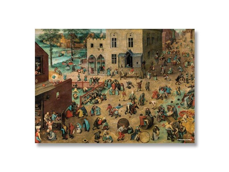 Poster, 50x70, Bruegel, kinderspelen