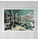 Affiche, 50x70, Bruegel, Chasseurs dans la neige