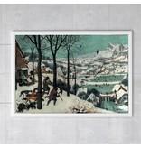 Cartel, 50x70, Bruegel, Cazadores en la nieve.