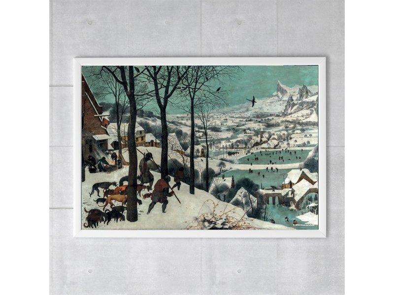 Plakat, 50x70, Bruegel, Jäger im Schnee